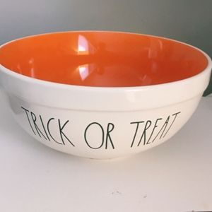 Rae dunn TRICK OR TREAT Ceramic bowl orange interi